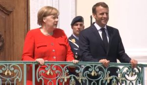 Cancelliera, Angela Merkel ed Emmanuel Macron