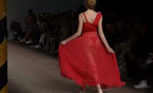 Moda, Un modello della sfilata Altaroma di luglio 2019