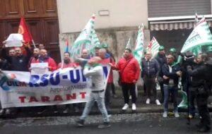 Università, Manifestazione degli operai ex Ilva