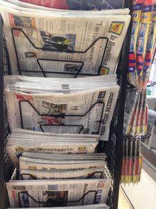 Giornali in vendita