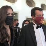 Smoking, Matteo Salvini con Francesca Verdini