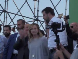 Rivoluzione liberale, Silvio Berlusconi, Giorgia Meloni e Matteo Salvini