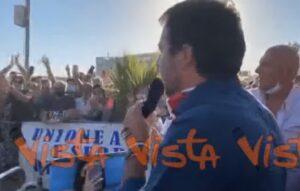 Rivoluzione liberale, Matteo Salvini a una manifestazione della Lega