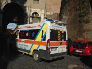 Forlanini, Un'autoambulanza a Roma