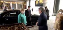 Azzeramento del debito, Angela Merkel e David Sassoli con la mascherina