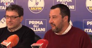 Renzi e Giorgetti convergono su Draghi, Giancarlo Giorgetti e Matteo Salvini