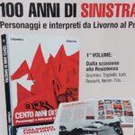 """Scissione di Livorno, Cartellone pubblicitario sul libro """"100 anni di sinistra"""""""