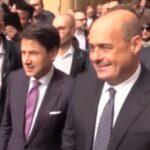 Protesta rosa, Giuseppe Conte e Nicola Zingaretti