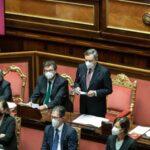 Governo europeista, Mario Draghi parla al Senato