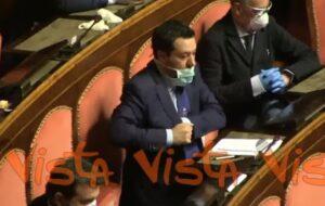 governo tecnico politico, Matteo Salvini al Senato