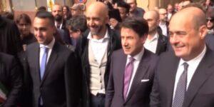 Dimissioni Zingaretti, Luigi Di Maio, Giuseppe Conte e Nicola Zingaretti