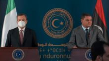 Turchia, La conferenza stampa di Mario Draghi e Abdul Hamid Dbeibah