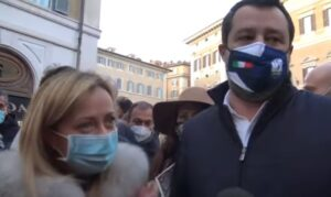 le pagelle covid, Giorgia Meloni e Matteo Salvini