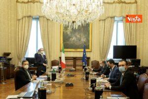 Cabina di regia, Mario Draghi incontra Matteo Salvini