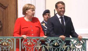 Sospendere i brevetti, Angela Merkel e Emmanuel Macron