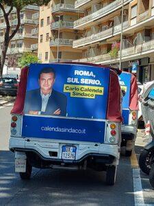 candidato, Furgoncino elettorale di Calenda