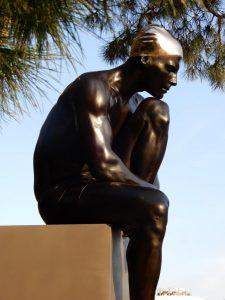 Carole A. Feuerman, una scultura dell'artista