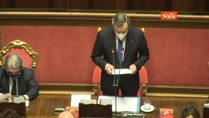 Draghi supplente, Mario Draghi parla al Senato