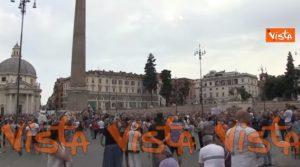 proteste contro Draghi, Manifestanti contro Draghi a Roma