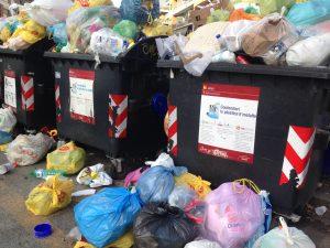 referendum sulla Raggi, Cataste di immondizia a Roma