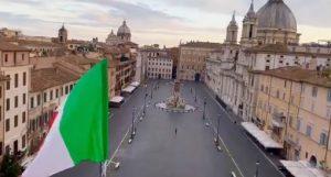 Stada, Piazza Navona vuota a Roma all'epoca del lockdown