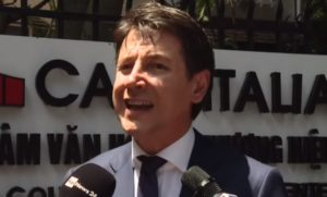 Tour elettorale a Roma, Giuseppe Conte
