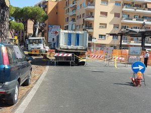 Conduttura rotta a via Gregorio VII, Rotto un tubo dell'acqua, chiusa via Gregorio VII a Roma