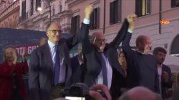 campo largo, Enrico Letta, Roberto Gualtieri e Nicola Zingaretti
